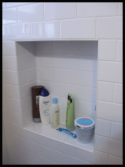 Marvelous Subway Tile Trim Pieces | Shower Niche Subway Tile, Grout Aligning,  Bullnosed Edge Of