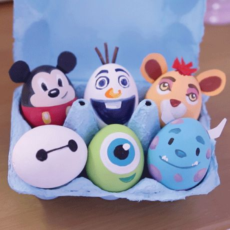 We have a half dozen colourful egg crafts featuring some of our favourite Disney characters for you to try!