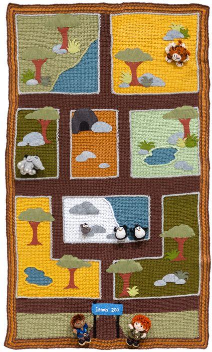 Free crochet playmat pattern from Crochet a Zoo