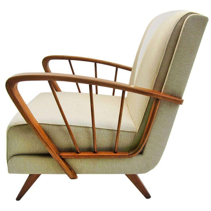 Anonymous; Ashwood Lounge Chair, 1950s.