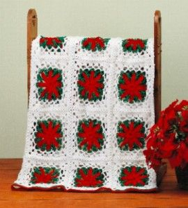 crochet poinsettia afghan | Grandmother's Pattern Book Sharing Links and Patterns Every Day!