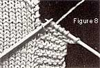 Örgüde sonradan eklenen lastik örgü yapımı Tricot à l\'aiguille - Technique : Les bordures