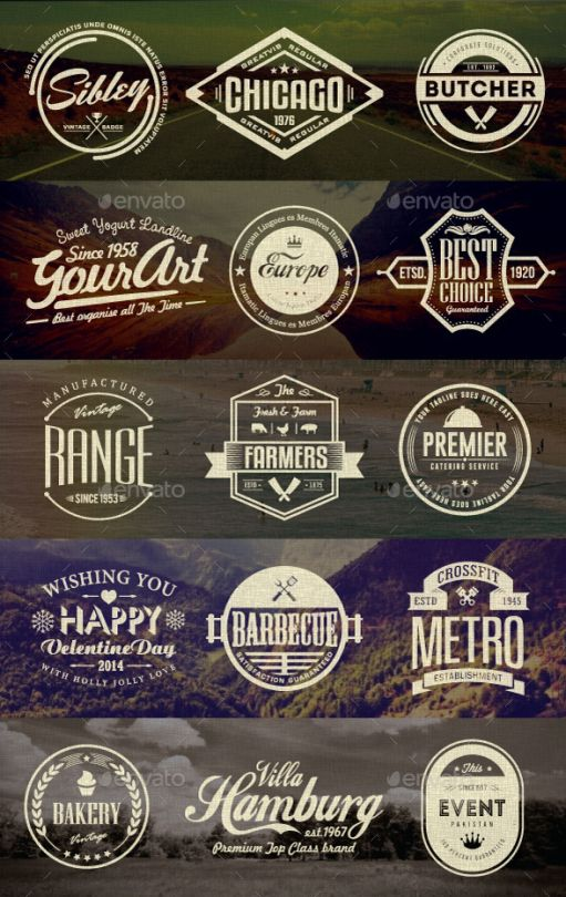 Retro Badges Bundle Graphic Design Blog