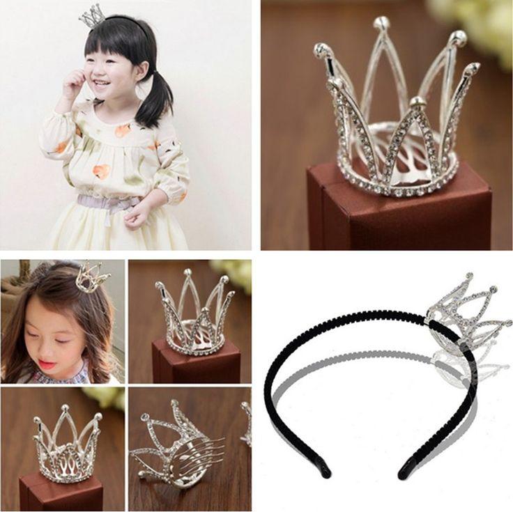Children's Hair Accessories Rhinestone Crown Jewelry, High-Quality Three-Dimensional Crown Shiny Hair Bands