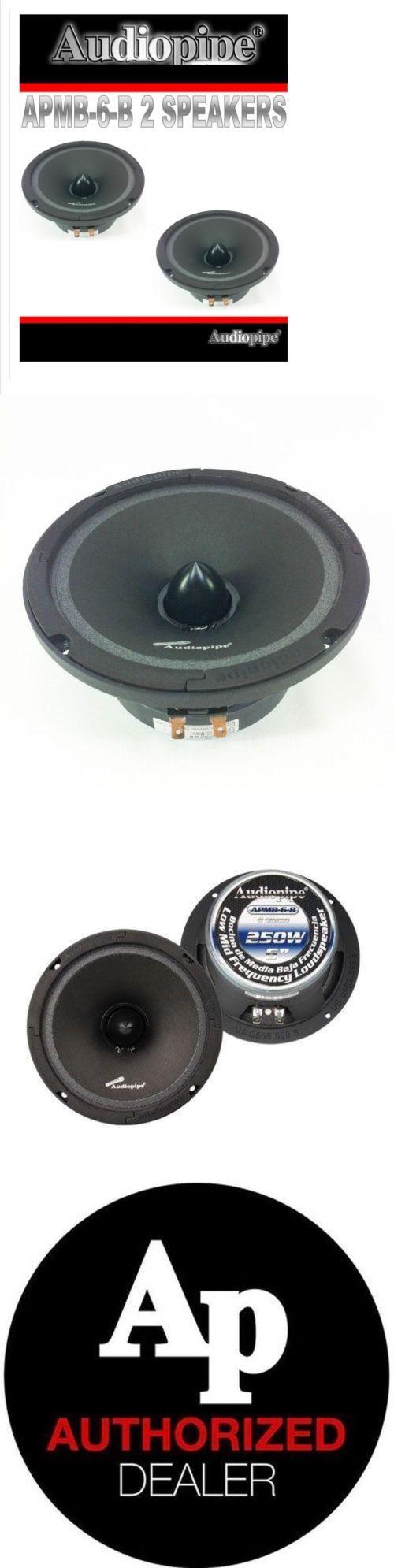 Car Speakers and Speaker Systems: (2) Audiopipe Apmb-6-B Pair Full Range Car Audio Loud Speakers Mids Car Stereo -> BUY IT NOW ONLY: $73.93 on eBay!
