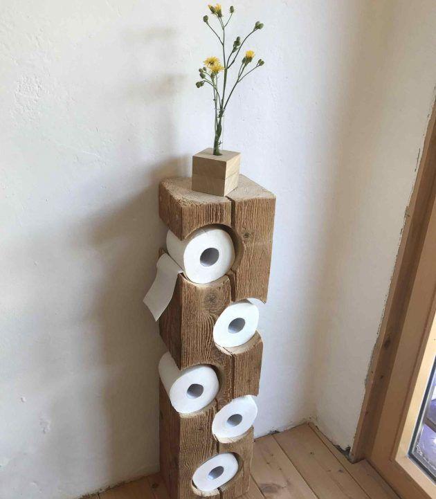 16 wirklich coole Möglichkeiten, um Toilettenpapier im Badezimmer zu lagern – Interior Design ideen 2019