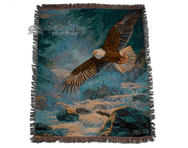 "Woven Southwestern Throw 50""x60"" -Soaring Eagle - Mission Del Rey Southwest"