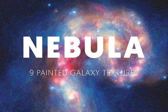 Nebula - 9 Painted Galaxy Textures by birrddy on @creativemarket