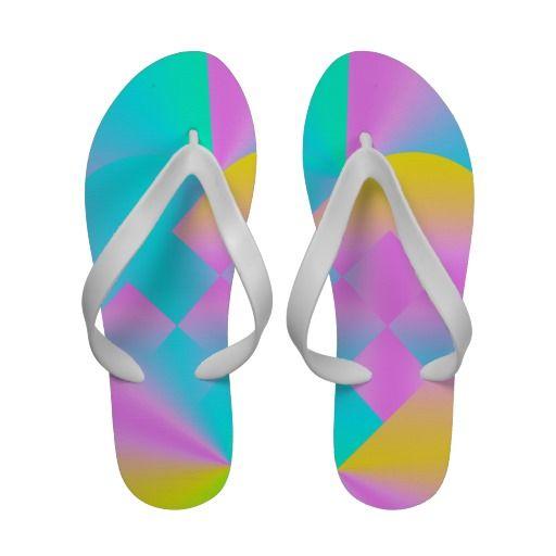 Danish Heart 21 - Women's Flip Flops  #girly #sandals #danish #heart #coral #mint