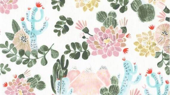Crib Sheet or Changing Pad Cover | Girl Baby Bedding | | Peach Crib Sheet | Succulent Cactus Desert Nursery | Blush | Standard or Mini Crib