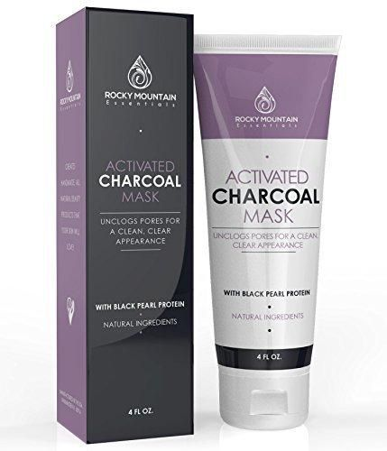 Activated Charcoal Face Mask Natural Blackhead and Acne Solution. Charcoal Mask Facial Treatment Deep Cleans Pores All Natural Ingredients.