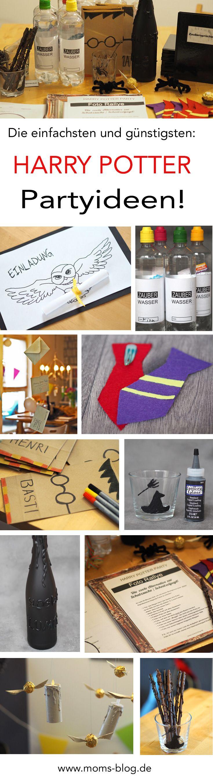 einfache g nstige ideen f r einen harry potter kindergeburtstag animaux fantastiques harry. Black Bedroom Furniture Sets. Home Design Ideas