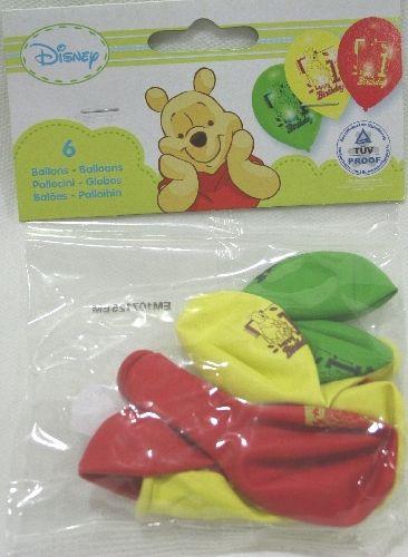 """6 Palloncini in lattice stampati """"Happi Birthday 1"""" per festeggiare il Primo Compleanno in 3 colori, rosso, verde e giallo. Per feste a tema o Compleanno. Disponibile da C&C Creations Store"""