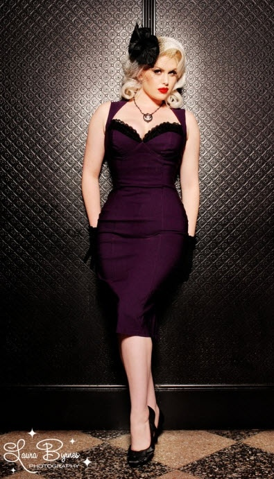 Another gorgeous, wiggly number is this purple Masuimi Max Dress