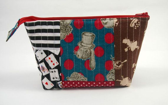 Alice in Wonderland Quilted Patchwork Zip Purse by BethanyEowyn, £14.00