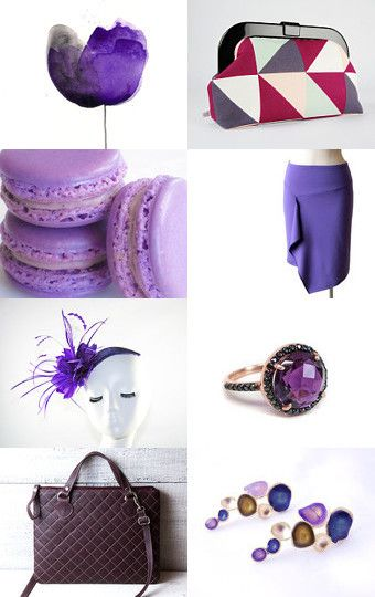 Purple Fiction by Mandarina on Etsy--Pinned with TreasuryPin.com