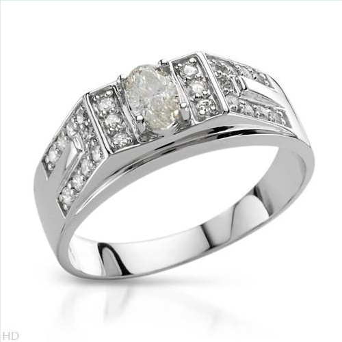 $689.00  Dazzling Brand New Solitaire Plus Ring With 0.70ctw Precious Stones - Genuine  Clean Diamonds Beautifully Crafted in 14K White Gold- Size 10 - Certificate Available.