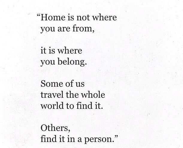 Home is where you belong...and where you hang your heart