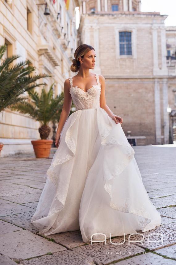 Wedding Dress Amadeya Magnificent Royal Wedding Dress A Line Princess Bridal Gown In 2020 Royal Wedding Dress Wedding Dresses Lace A Line Wedding Dress