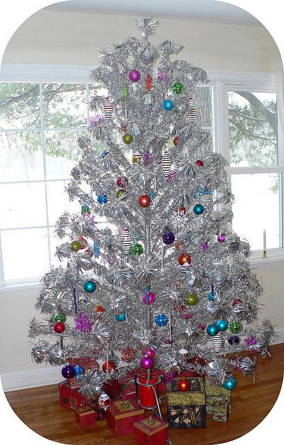 Aluminum Christmas Tree With Color Wheel For Sale
