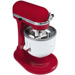 Ice Cream Maker attachment for my wonderful red kitchenaid mixer!