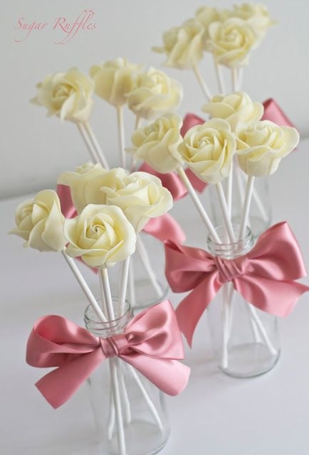 Sugar Ruffles- White Chocolate Rose Cake Pops