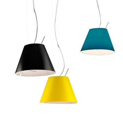 The Luceplan Costanzina Suspension Is Available In Many Different Colors Of  The Shade. With A Counterweight The Height Of The Luceplan Lamp Can Be  Adjusted ...