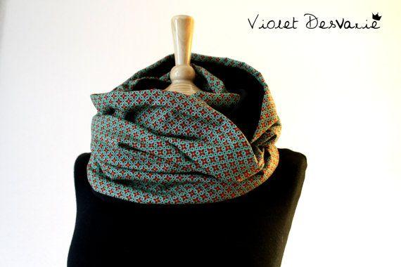 SALE Bufanda cuello de tela algodón y forro by VioletDesvarie