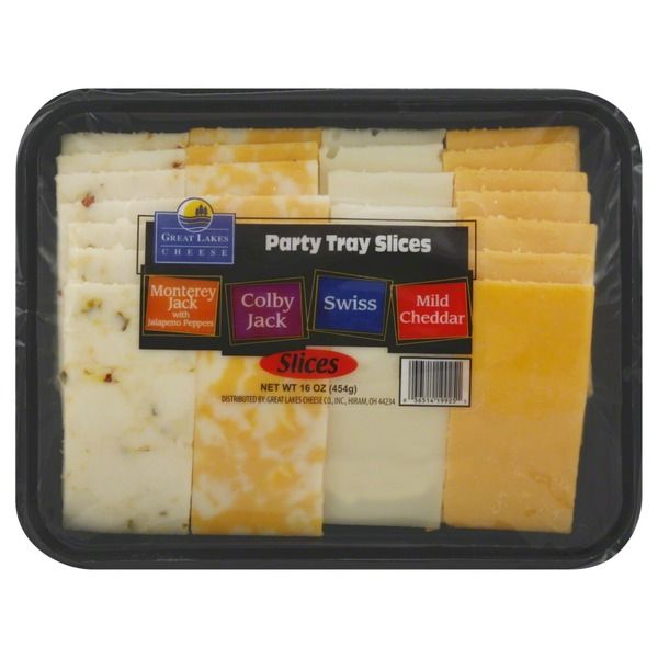 Great Lakes Cheese Party Tray Slices, Variety. Handy snack sized. Can even freeze part if needed.
