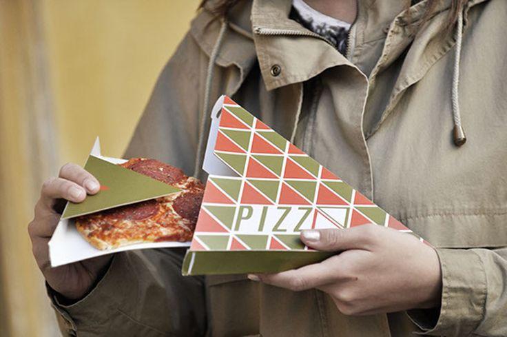 Дизайнер из Австрии christina wolf разработала конструкцию специальной треугольной коробки для упаковки свежего, горячего, ломтика пиццы на вынос из пиццерии.  Поскольку пицца обычно подается прямо из печи и может быть очень горячей, так что на ходу ее держать и есть не используя вилку и нож довольно сложно.  Треугольная коробка Pizzaeck помогает решить все указанные выше проблемы, комфортно и экономно. Конструкция коробки полностью самосборная, клей и упаковочные материалы не нужны.  Что бы…