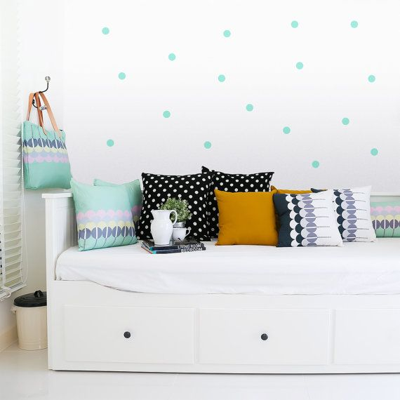 Polka dots Wall decal Mint / Wall Dots Home decor by MadeofSundays, €12.00