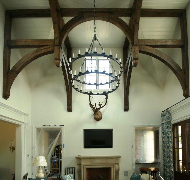 Intersecting Hammer Trusses - reclaimed white oak