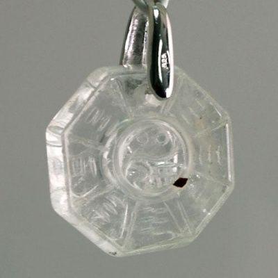 Ciondolo Unisex Yin Yang in Cristallo di Rocca levigato e Ag 925