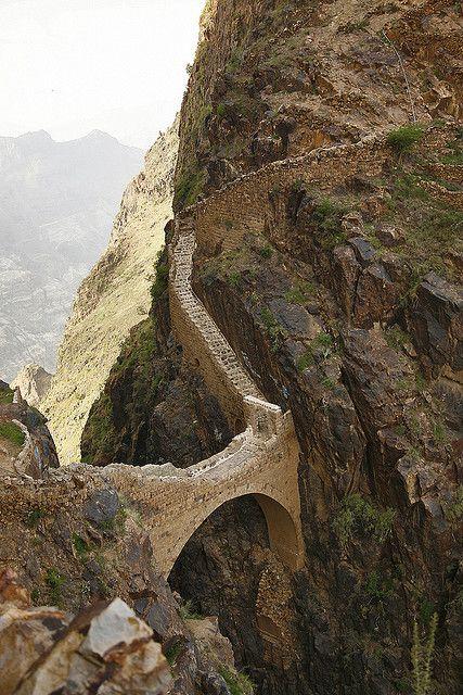 Shaharah Bridge in Yemen | Photo by Eric Lafforgue