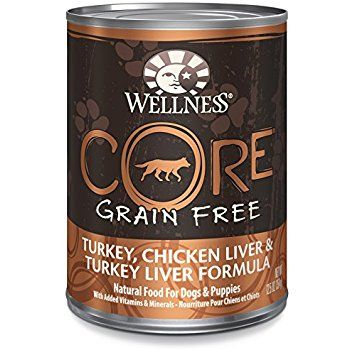 Wellness CORE Natural Wet Grain Free Canned Dog Food, Turkey & Chicken, 12.5-Ounce Can (Pack of 12): Canned Wet Pet Food