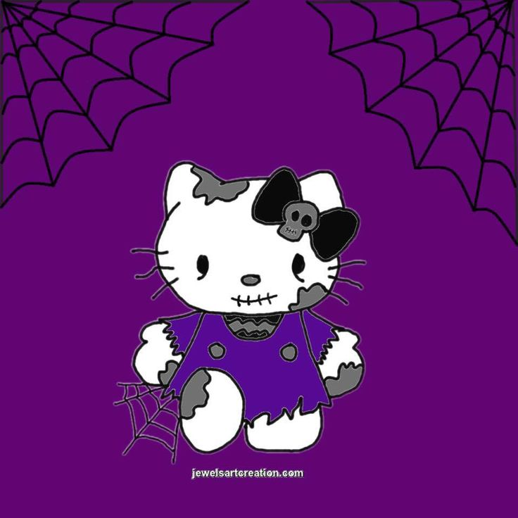 HELLO KITTY ZOMBIE   PROFILE PICTURE/BACKGROUND   FREE TO USE BUT PLEASE   DONT TAKE MY WEBSITE NAME OFF IT