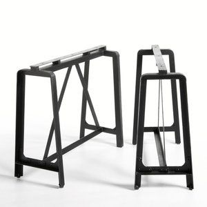 les 25 meilleures id es de la cat gorie treteaux metal sur pinterest table tr teau tr teaux. Black Bedroom Furniture Sets. Home Design Ideas