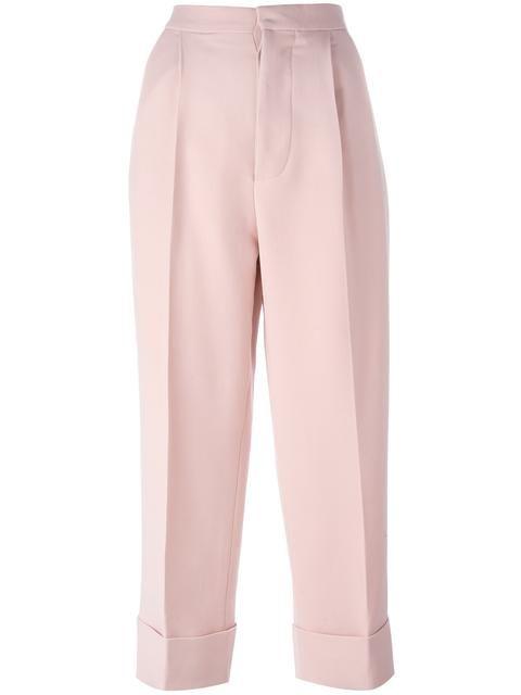 Marni укороченные строгие брюки