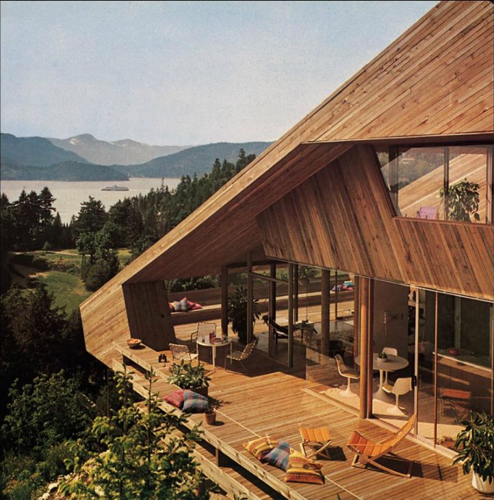 1967 Catton House | Architects: Arthur Erickson & Geoffrey Massey | West Vancouver, Georgia Strait, B.C., Canada