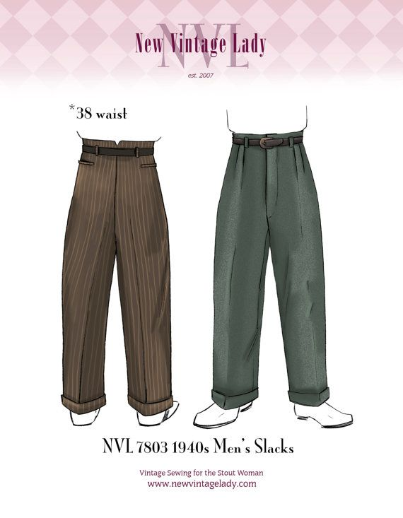 New Pattern! Help me make it happen. I need at least 3 preorders!  PREORDER NVL 1940s Men's Slacks pattern by NewVintageLady on Etsy, $25.00