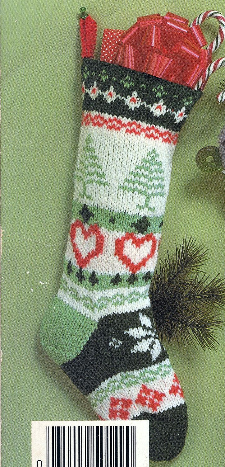 Vintage Knitted Christmas Stockings