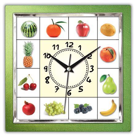 Kare Meyveli Yeşil Renk Mutfak Duvar Saati  Ürün Bilgisi ;  Ürün maddesi : Plastik çerceve, Bombeli plastik cam Ebat : 27x 27 cm  Mekanizması (motoru) : Akar saniye, saat sessiz çalışır Kare Meyveli Yeşil Renk Mutfak Duvar Saati Saat motoru 5 yıl garantilidir Yerli üretimdir Duvar Saati sağlam ve uzun ömürlüdür Kalem pil ile çalışmaktadır Gördüğünüz ürün orjinal paketinde gönderilmektedir. Sevdiklerinize hediye olarak gönderebilirsiniz