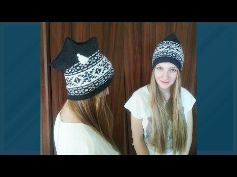 Уроки и секреты машинного вязания. Как вязать двойную спортивную шапку «Петушок». Урок 1 - YouTube