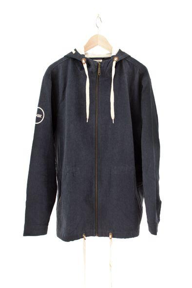 RCM CLOTHING / ITAL JACKET   DARK BLUE  Sustainable Hemp Apparel, 55% hemp 45% organic cotton twill http://www.rcm-clothing.com/