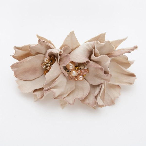 Dessert sand floral hair barrette
