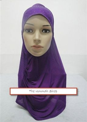 Shimmer Amirah Pull-over Hijab one piece with rhinestones