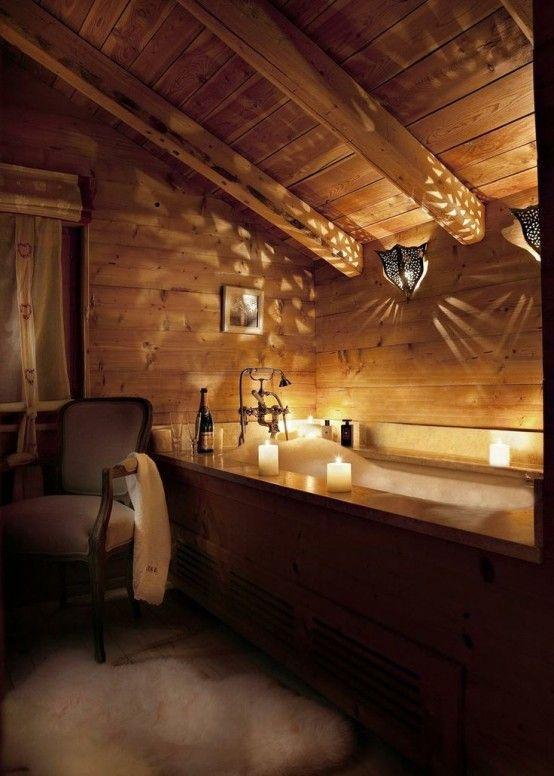 Dreamy rustic bath