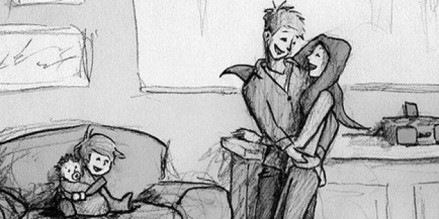 Touching Illustrations Of Man And His Wife Will Give You Serious