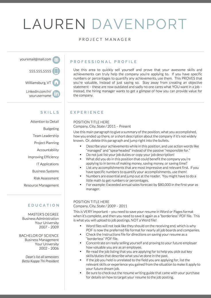 Resume Template Resume Template Word Resume With Picture Cv Cv Template Resume With Cov In 2020 Good Resume Examples Professional Resume Examples Marketing Resume