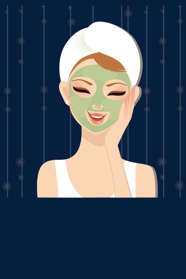 Skin Beauty Cartoon Beauty Face Mask Apply Png Zand Vector Beauty Face Beauty Skin Beauty Mask